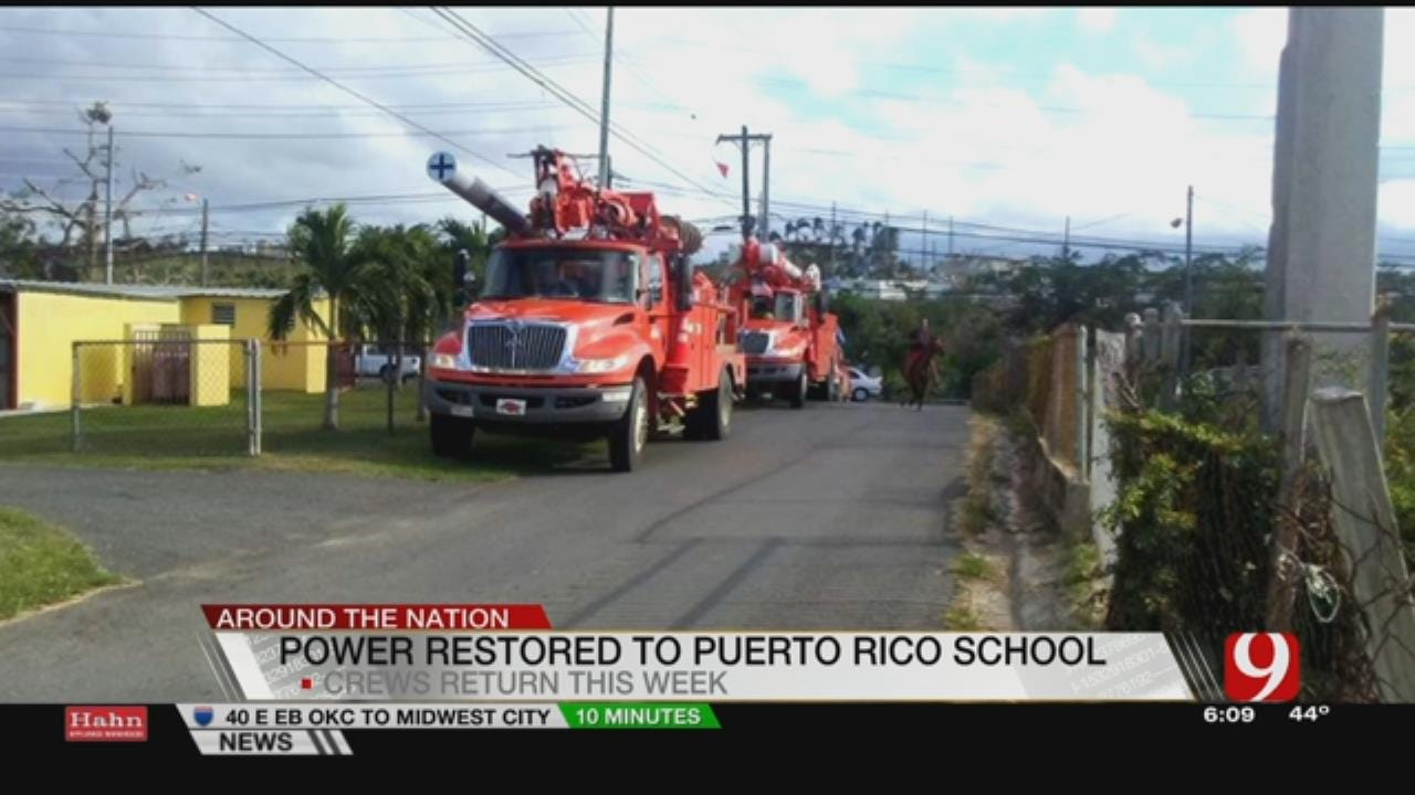 OG&E Linemen Restore Power To Puerto Rico School
