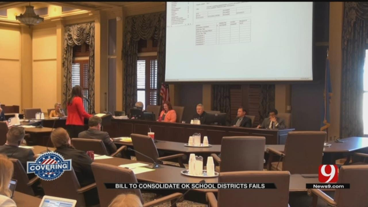 Bill To Consolidate Small Oklahoma School Districts Fails