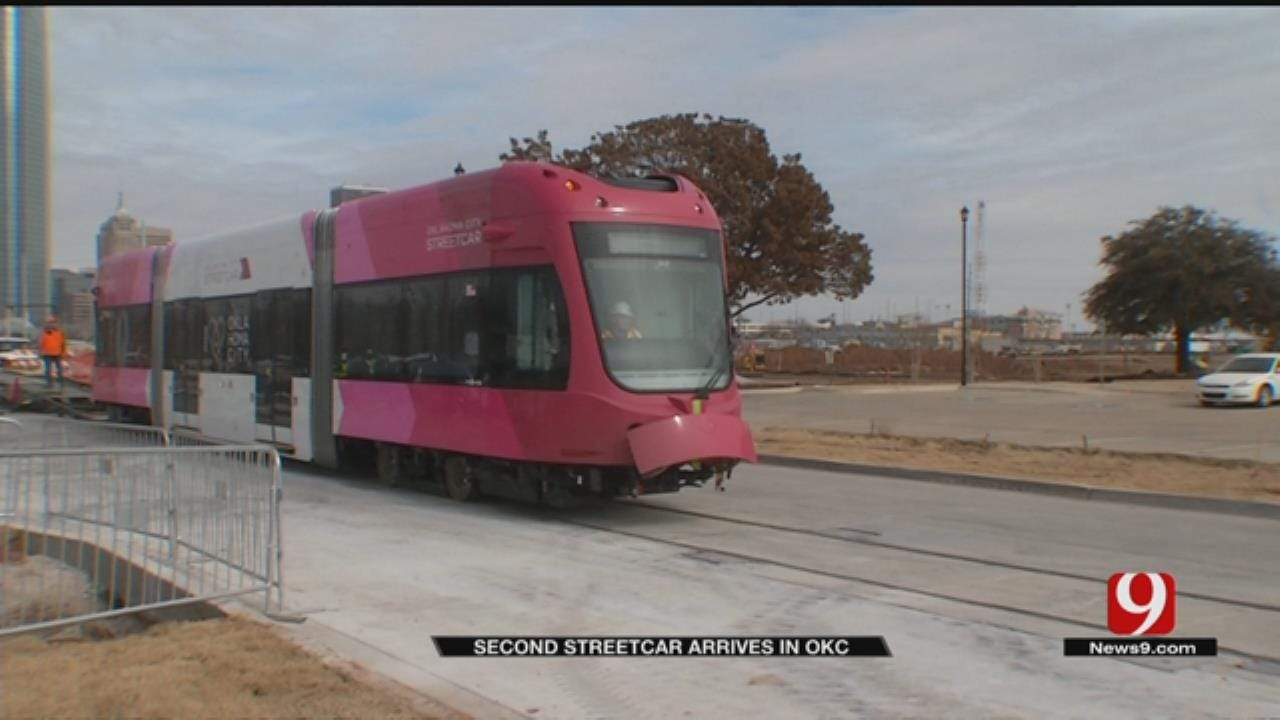 Second Streetcar Arrives In Oklahoma City