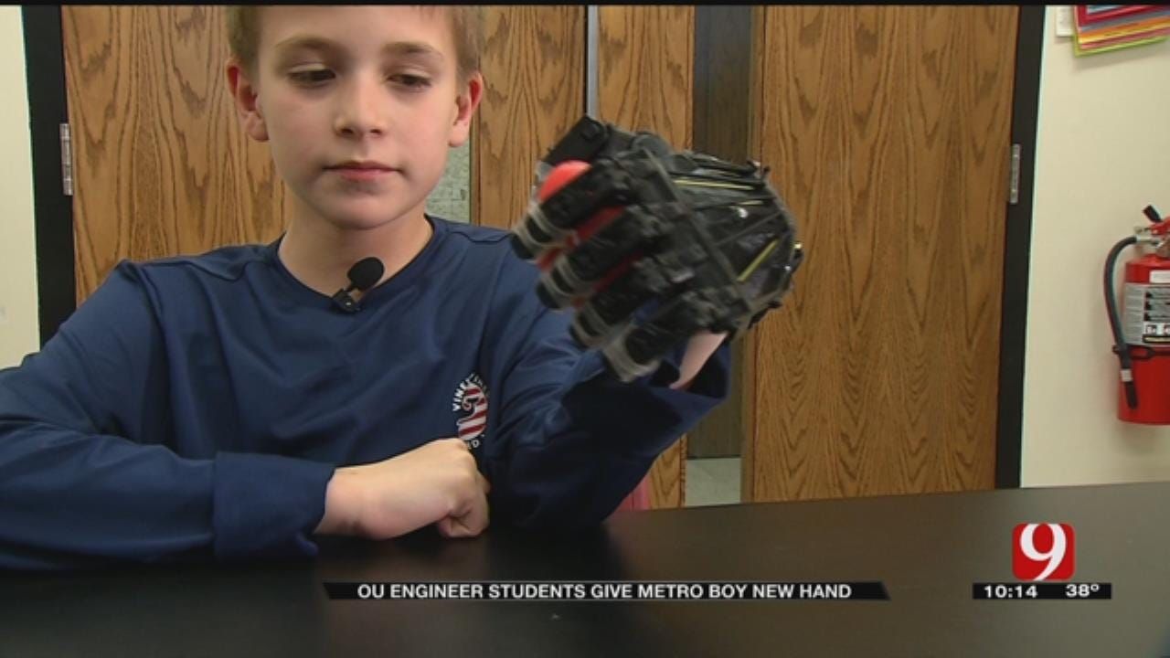 OU Engineering Students Give 12-Year-Old Prosthetic Hand