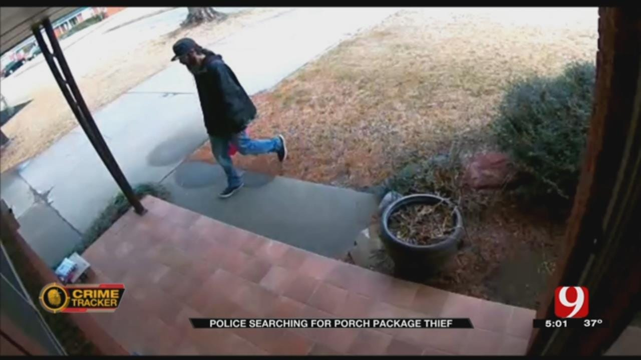 Police Searching For 'Porch Pirate' Who Hit NW OKC Home