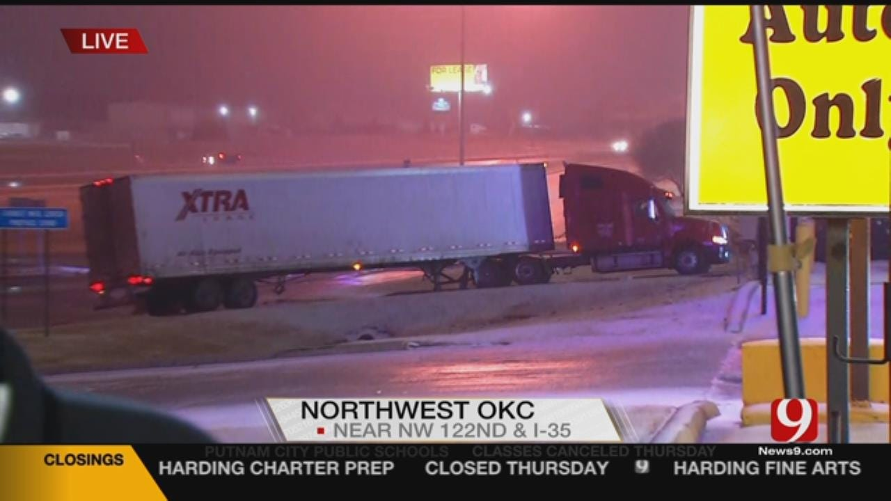 Oklahoma winter Storms Makes For A Busy Day For AAA