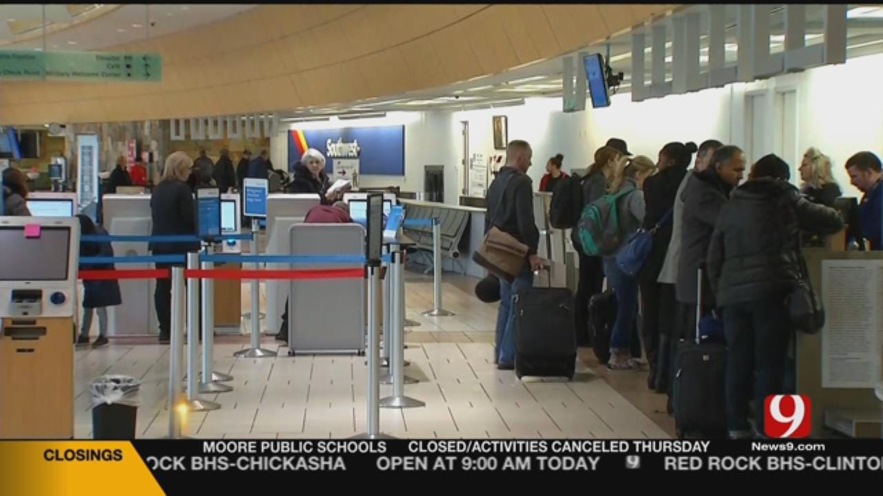 Travel Delays, Cancellations At Will Rogers World Airport
