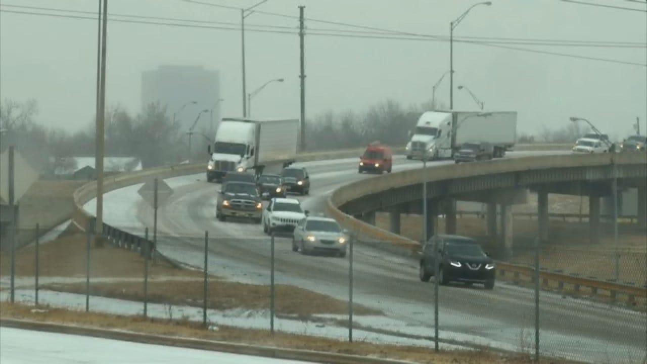 Val, Amy Castor: Slick Bridge At I-44, 36th Street - Feb. 21