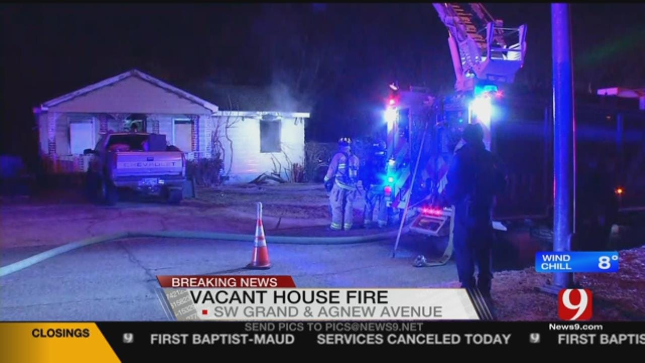 Firefighters Battle Vacant SW OKC House Fire