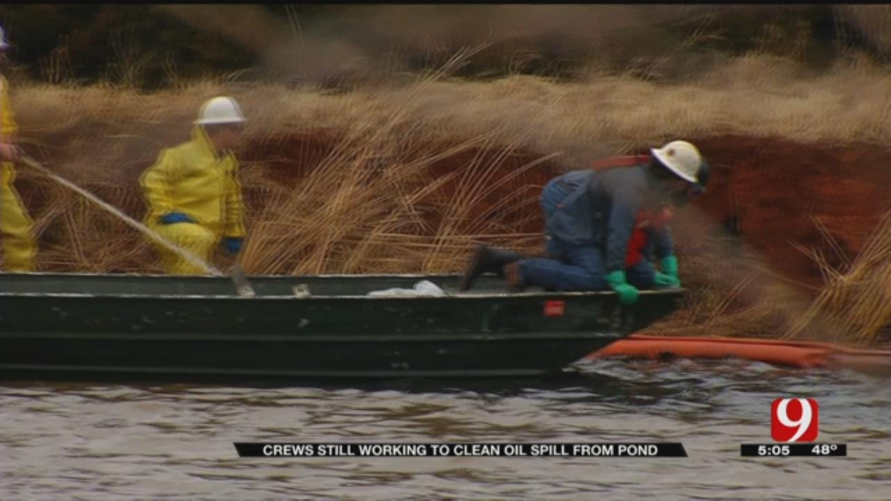 Cleanup Continues After Oil Spill In NW OKC
