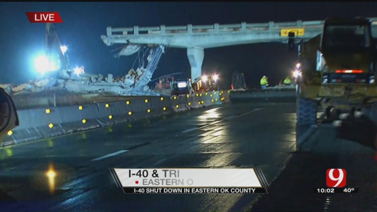 I-40 Closes For Bridge Demolition In Oklahoma County