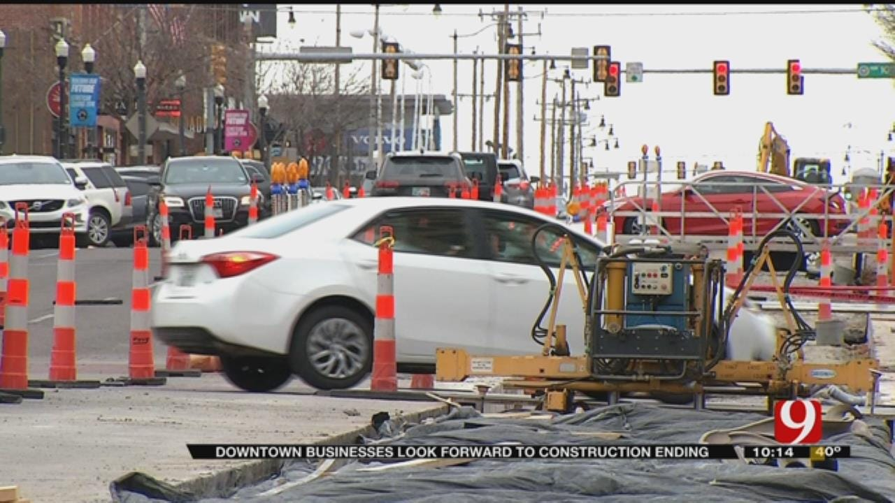 Downtown Businesses Look Forward To Streetcar Construction Ending