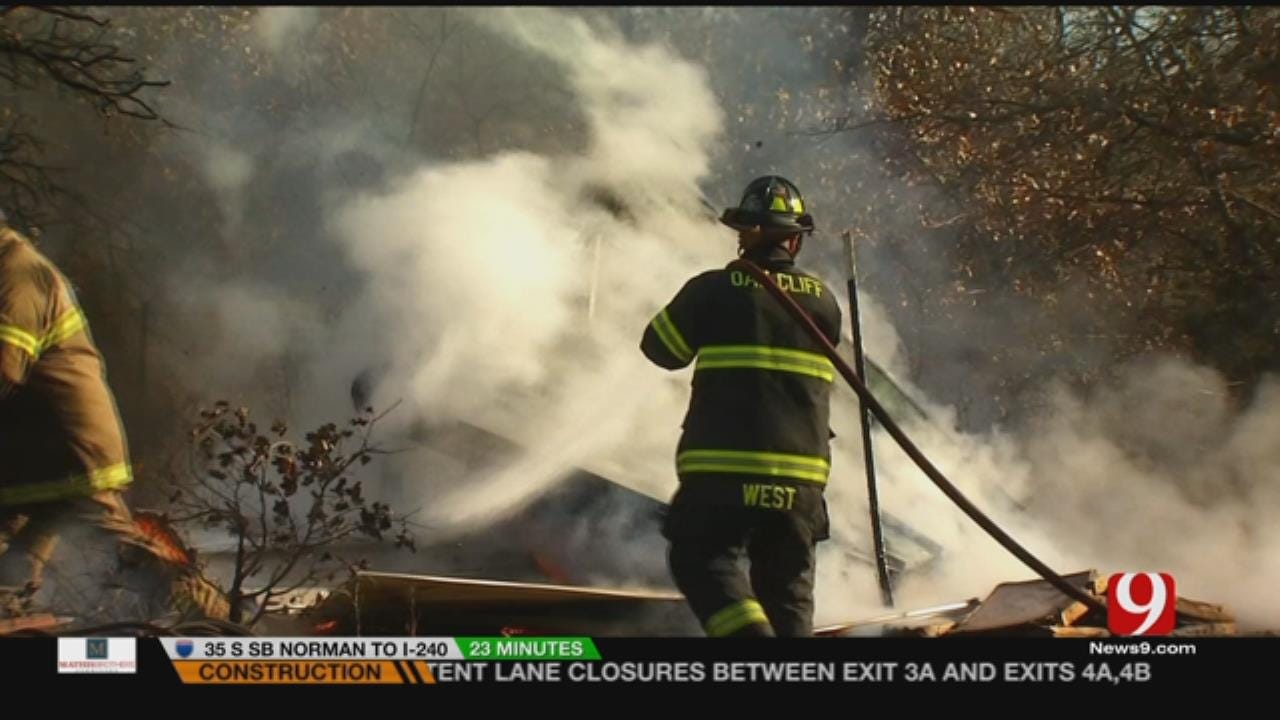 Rural Guthrie Home Loses Water After Fire