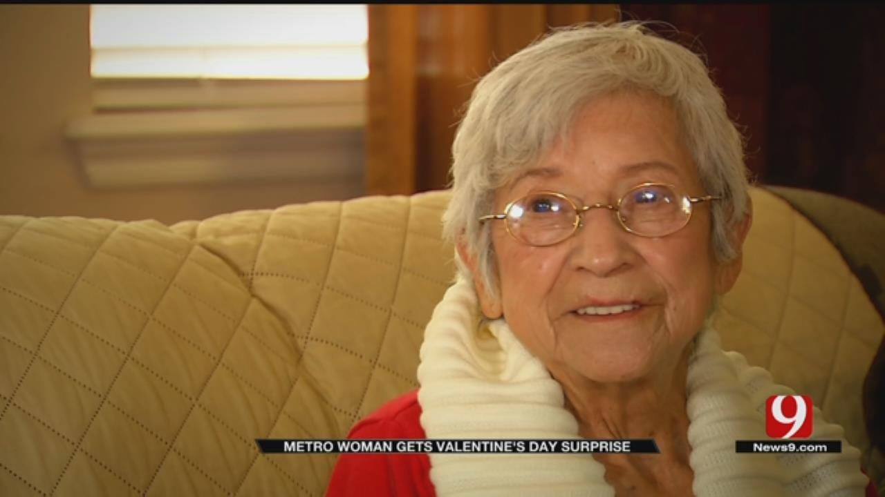 Elderly Metro Woman Gets Valentine's Day Surprise