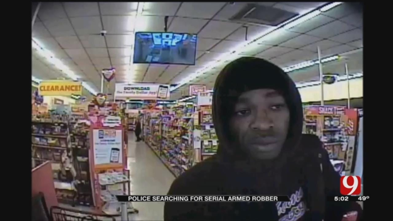 Serial Robbery Suspect Hits Fifth OKC Convenience Store