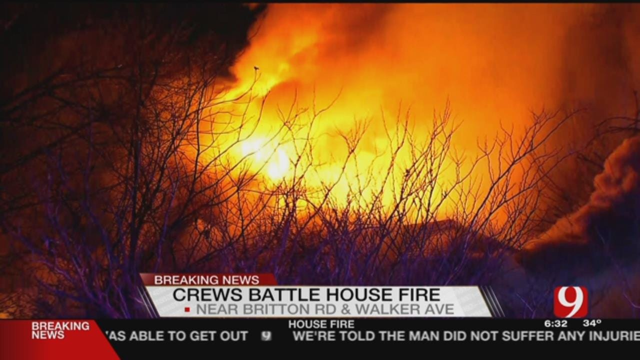 Crews Battle NW OKC House Fire