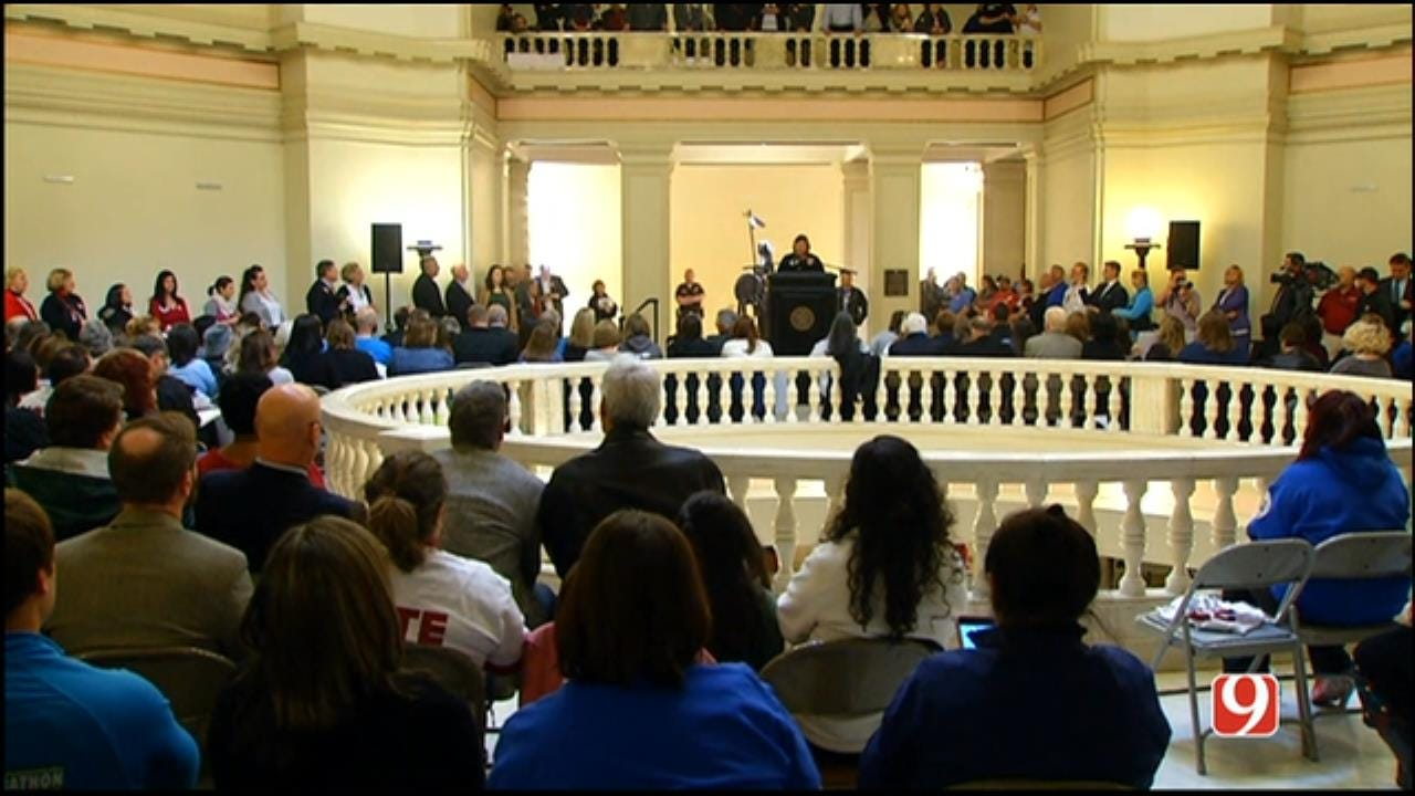 WEB EXTRA: Teachers Rally At Capitol In Support Of Step Up OK