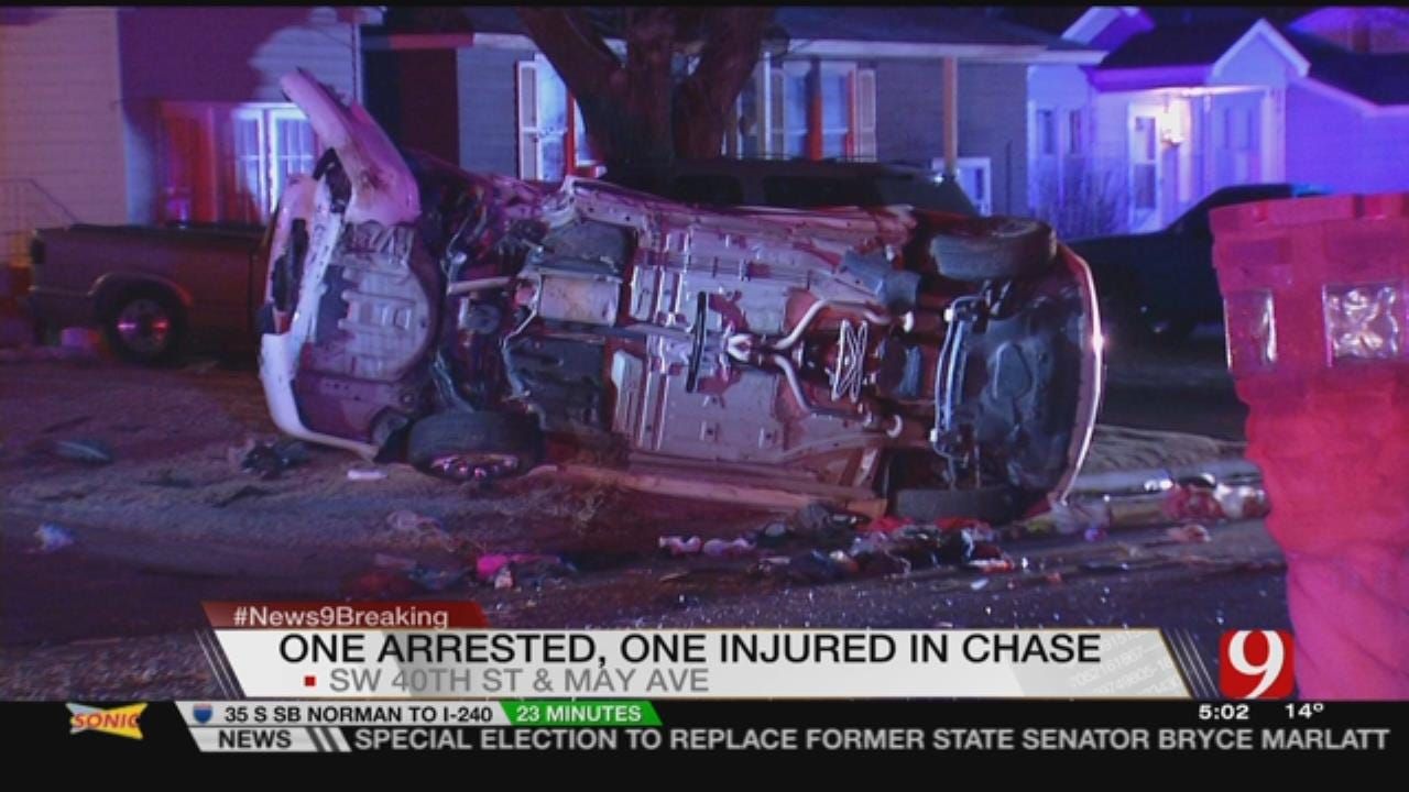 1 Arrested After Crash Leads To Short Pursuit In SW OKC