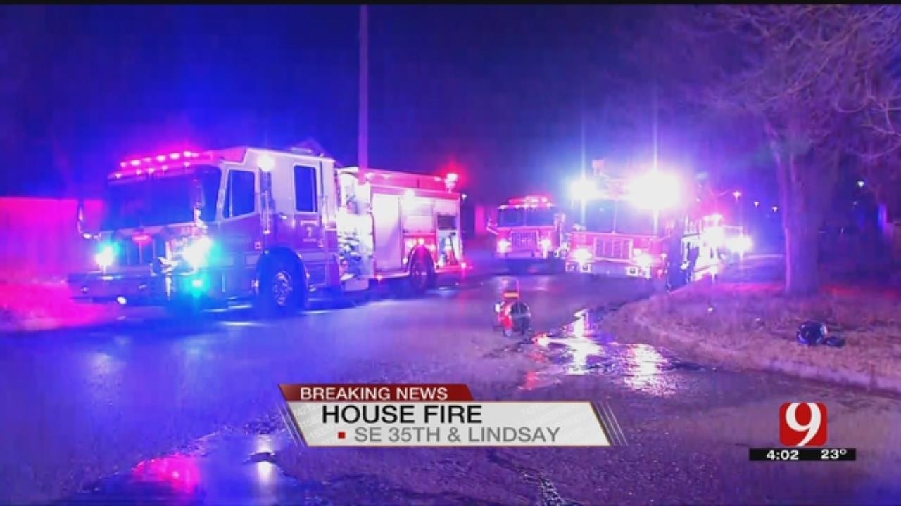 Firefighters Battle House Fire In SE OKC