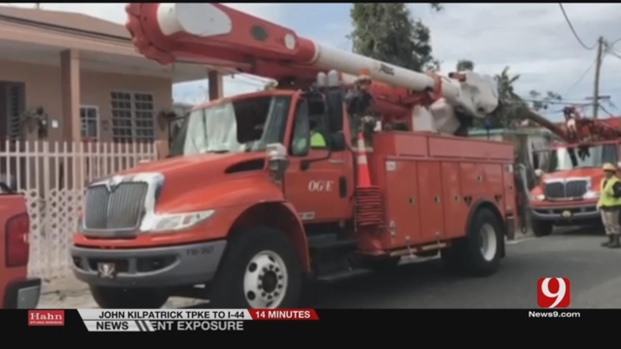 Second Wave Of OG&E Workers Travel To Puerto Rico