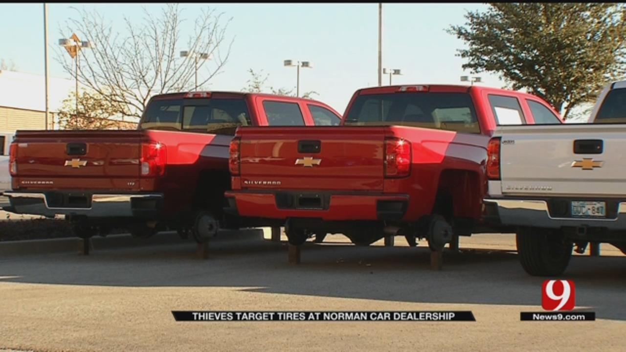Tires, Wheels Stolen Off 40 Cars On Norman Dealership Lot