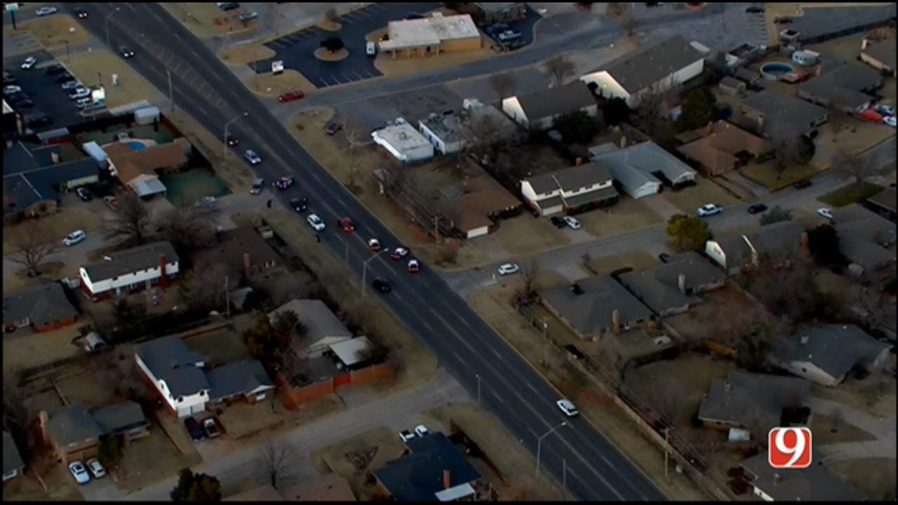 WEB EXTRA: SkyNews 9 Flies Over Auto-Ped Crash In Warr Acres