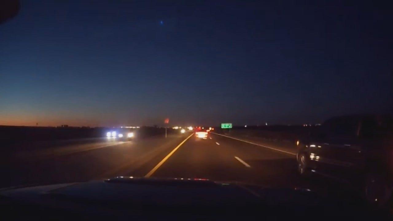 WEB EXTRA: OKC Resident Captures 'Falling Star' On Dashcam