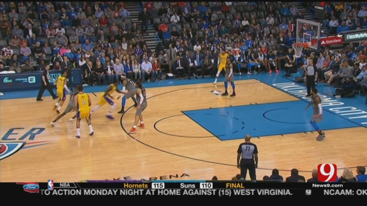 Thunder Skid Runs To 4 With 108-104 Loss To Lakers