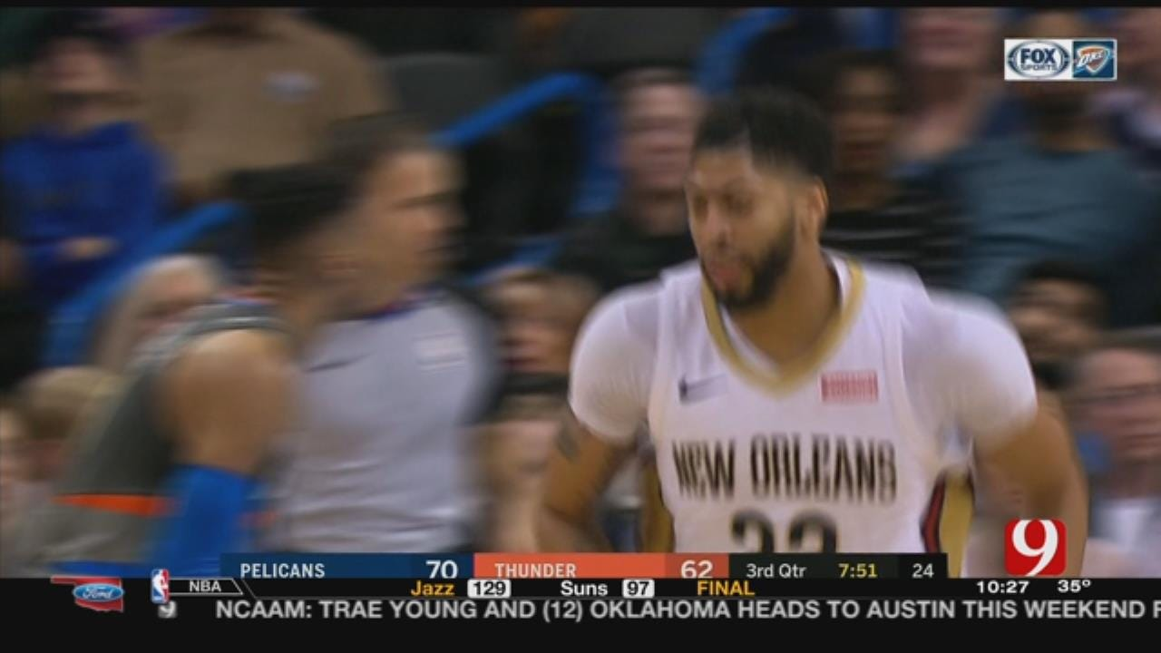 Davis' 43 Points Lead Pelicans Past Thunder 114-100