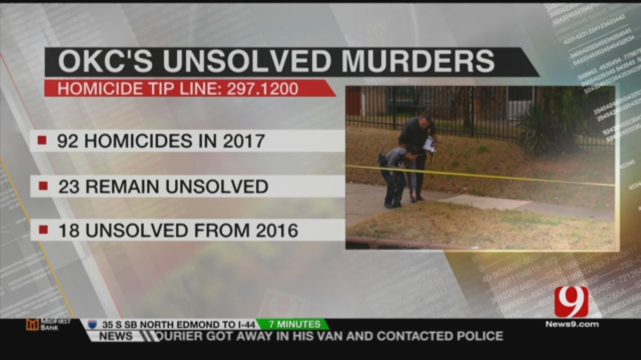 OKC Police Asking The Public's Help In Solving Homicide Cases