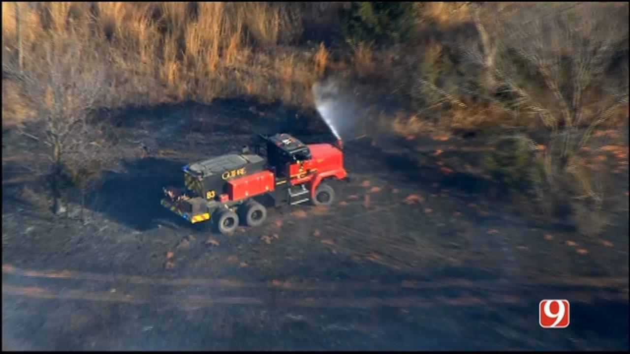 WEB EXTRA: SkyNews 9 Flies Over Wildfire Near Liberty Lake
