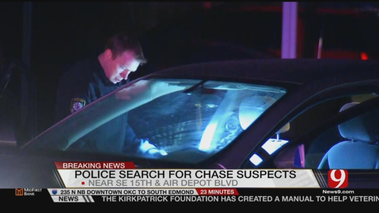 MWC Police Search For 3 People After Chase
