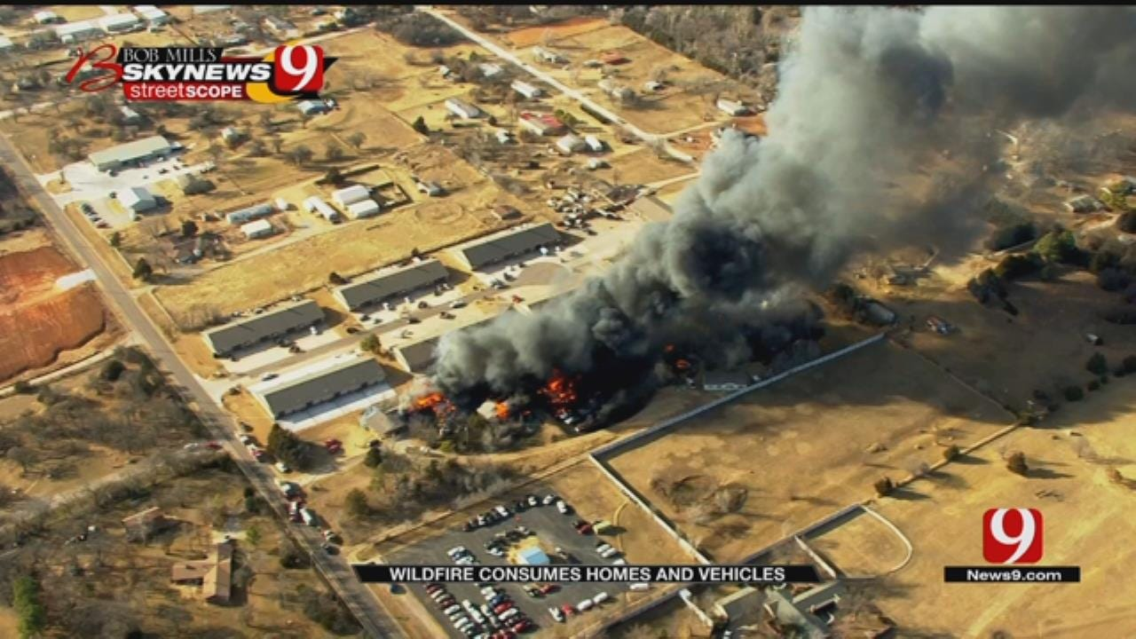 Edmond Wildfire Destroys Home, Several Vehicles