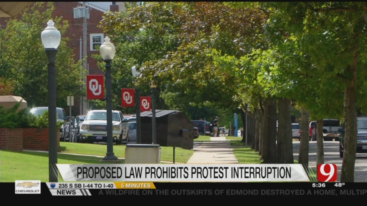 Proposed State Law Would Prohibit Protest Interruption