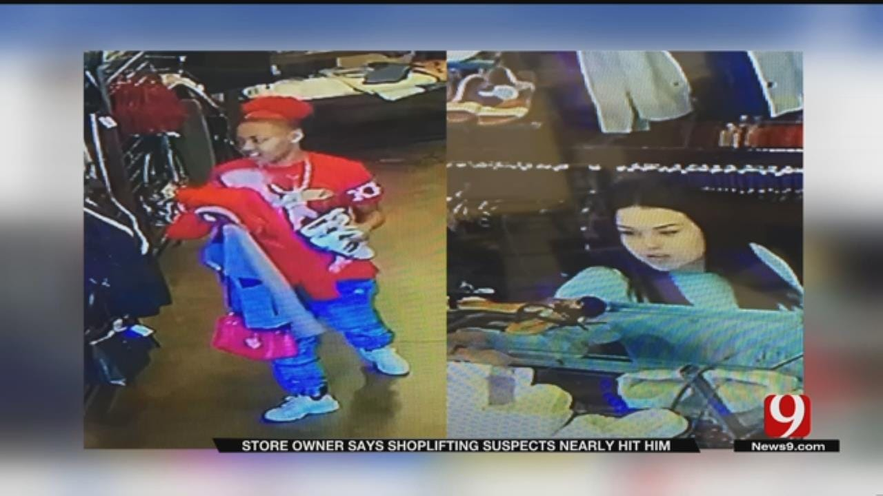 Shoplifters Nearly Run Over Store Owner