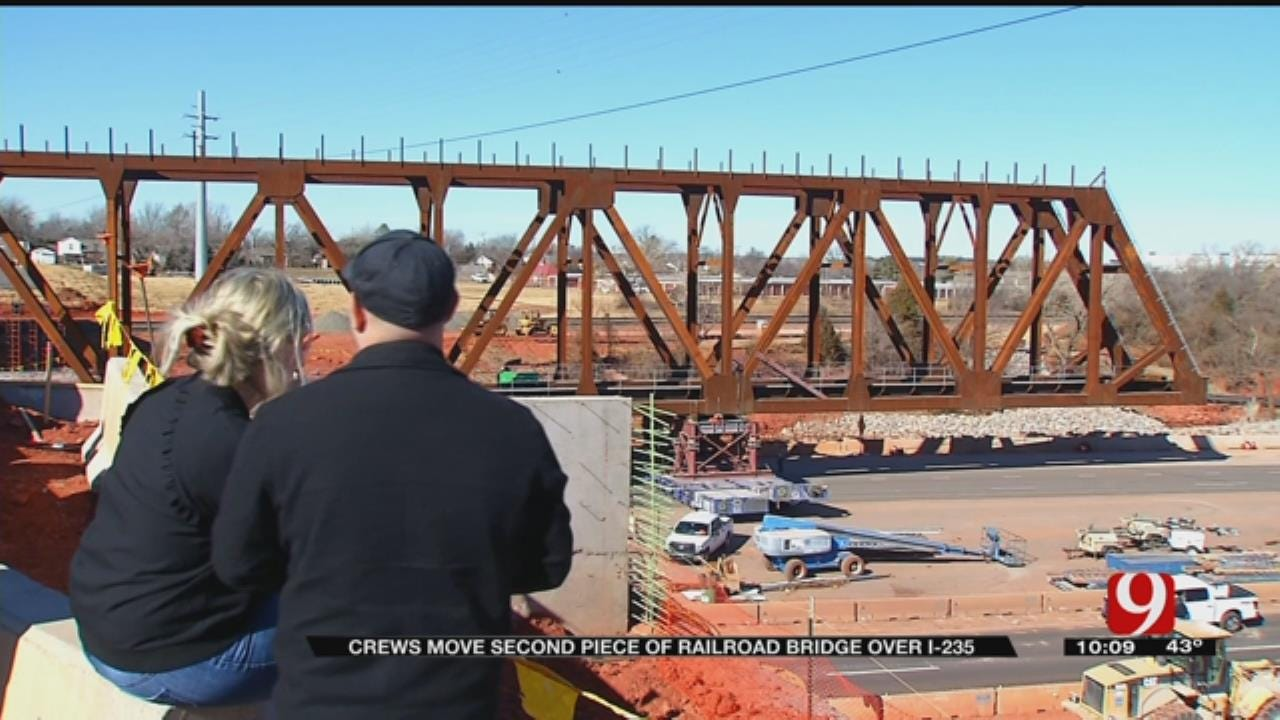 Things Looking Good After Second Day Of I-235 Bridge Haul