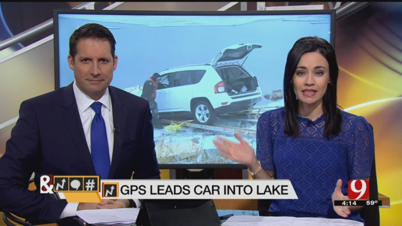 Trends, Topics & Tags: Driver Listens To GPS, Ends Up In Frozen Lake