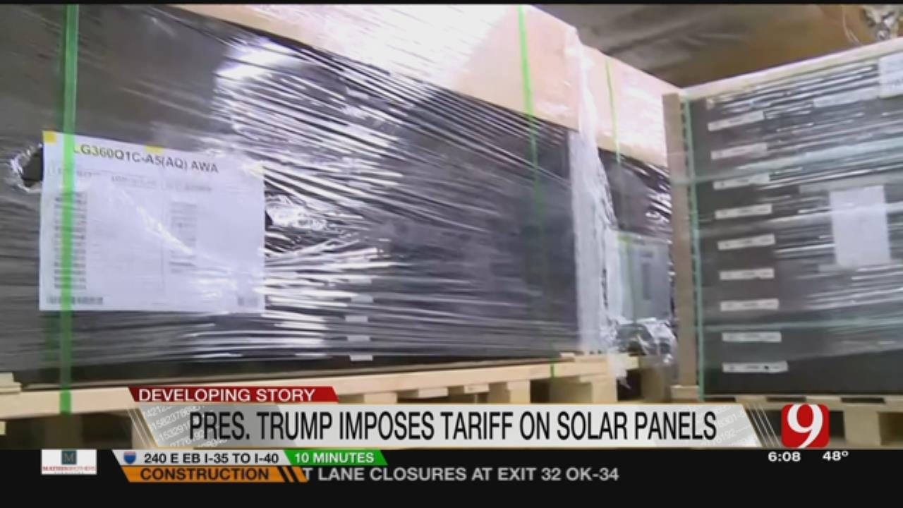 President Trump Imposes Tariff On Solar Panels