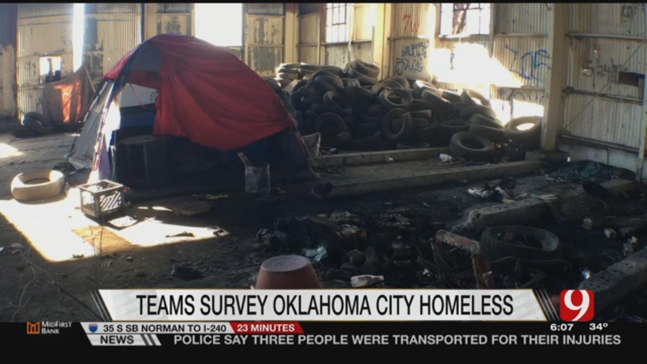 Officials Conduct Annual Homeless Census In OKC
