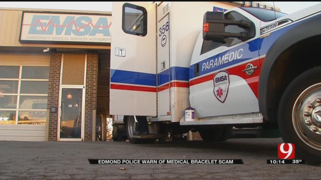 Don't Fall For 'Free Medical Bracelet' Scam, Edmond Police Say