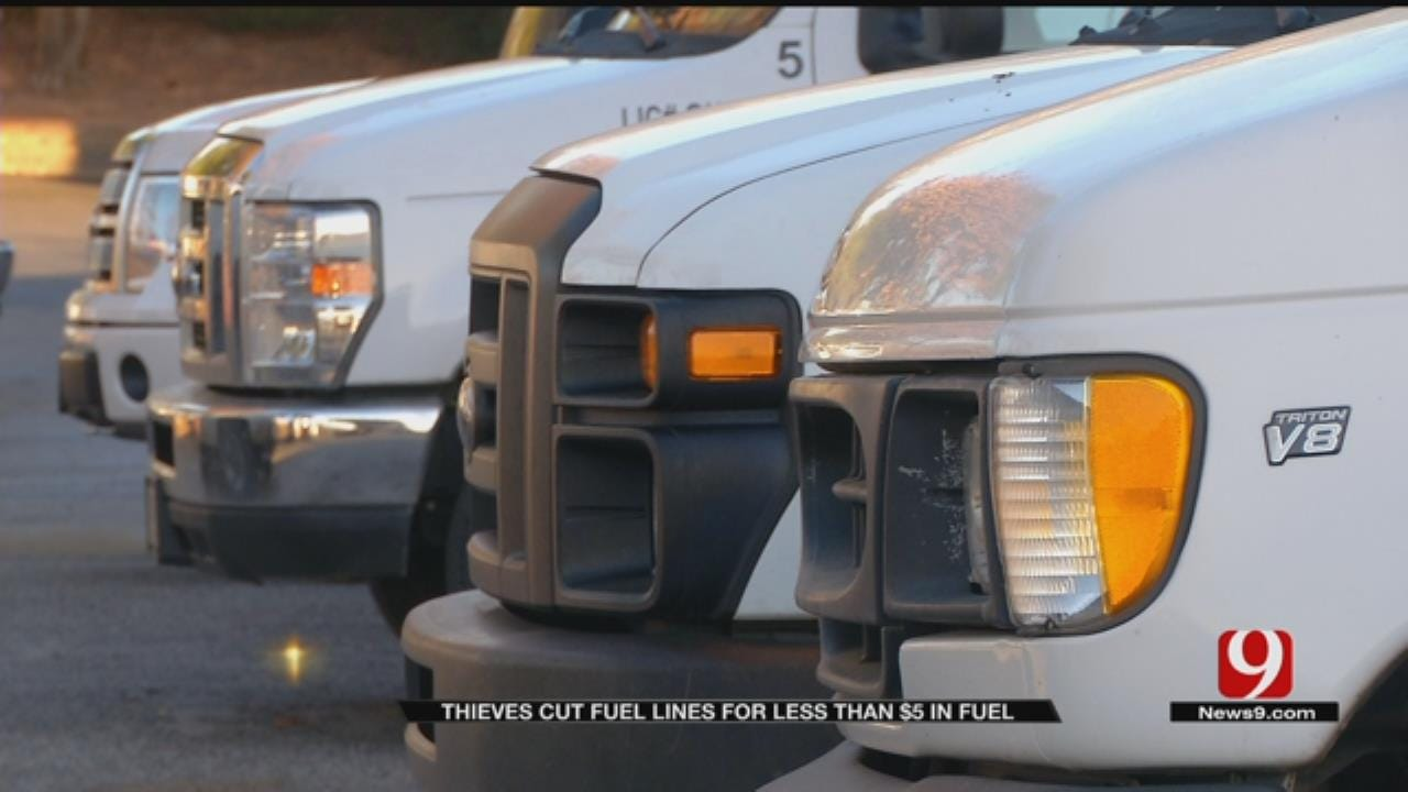 Thieves Cut Gas Lines To Edmond Company Vans
