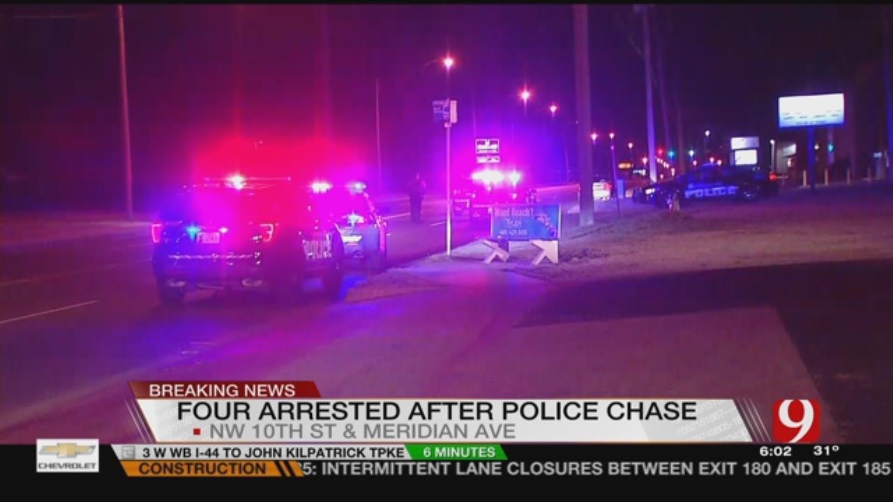 Two Arrested After Police Pursuit In NW OKC