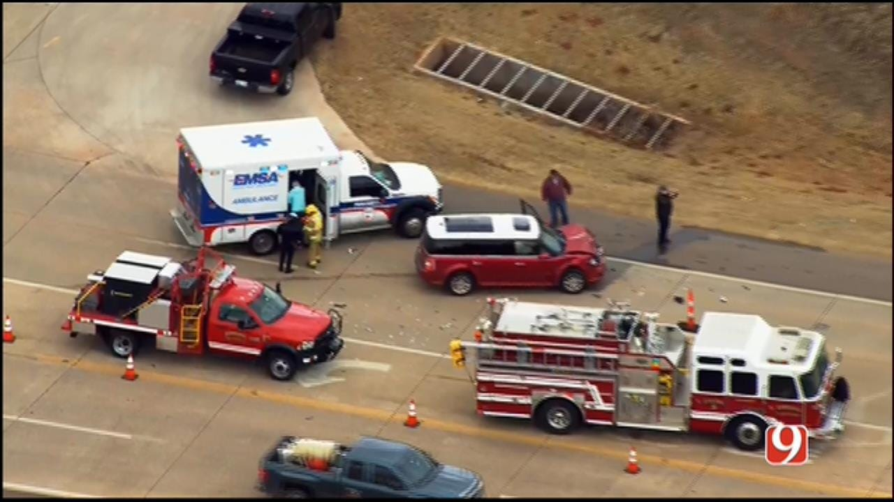 WEB EXTRA: Bob Mills SkyNews 9 Flies Over Injury Crash In Edmond