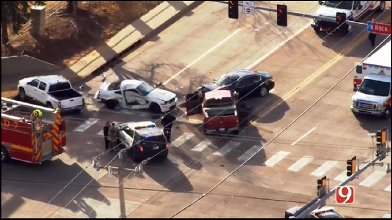 WEB EXTRA: 1 In Critical After Norman Police Chase Ends With Crash