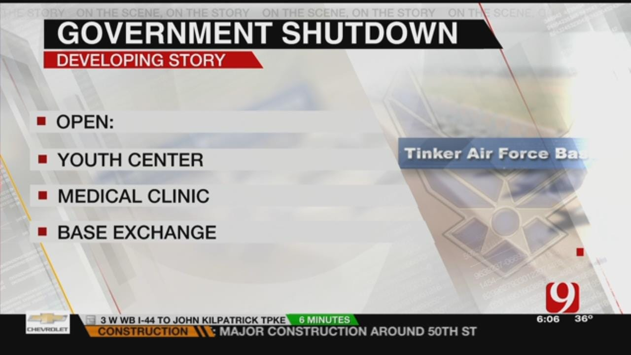 Government Shutdown To Affect Tinker AFB Employees