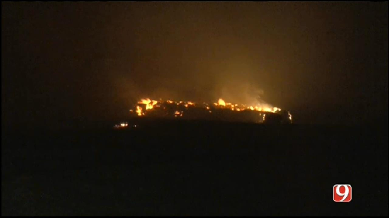 Large Grass Fire Springs Up In Western OK