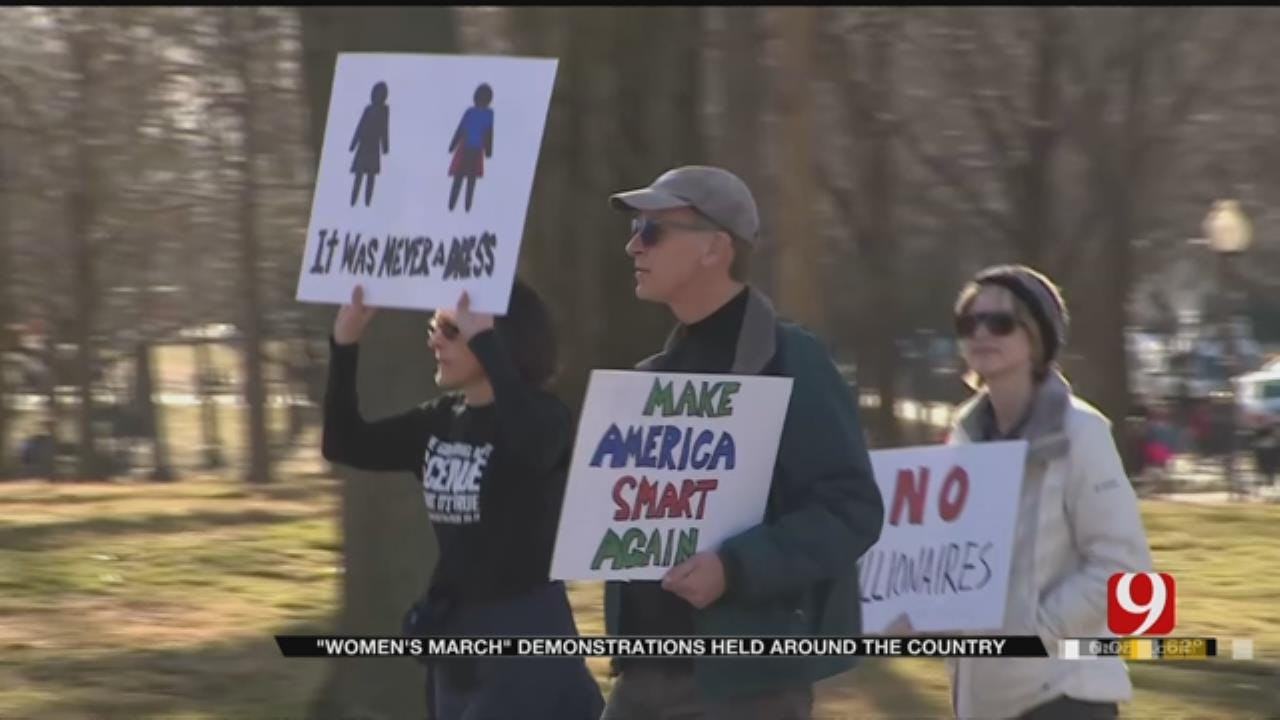 Hundreds Gather At Oklahoma Capitol For Women's March