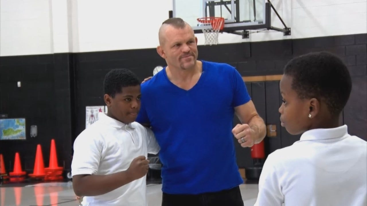 MMA Legend Chuck Liddell Spreads Anti-Bullying Message At OKC Schools