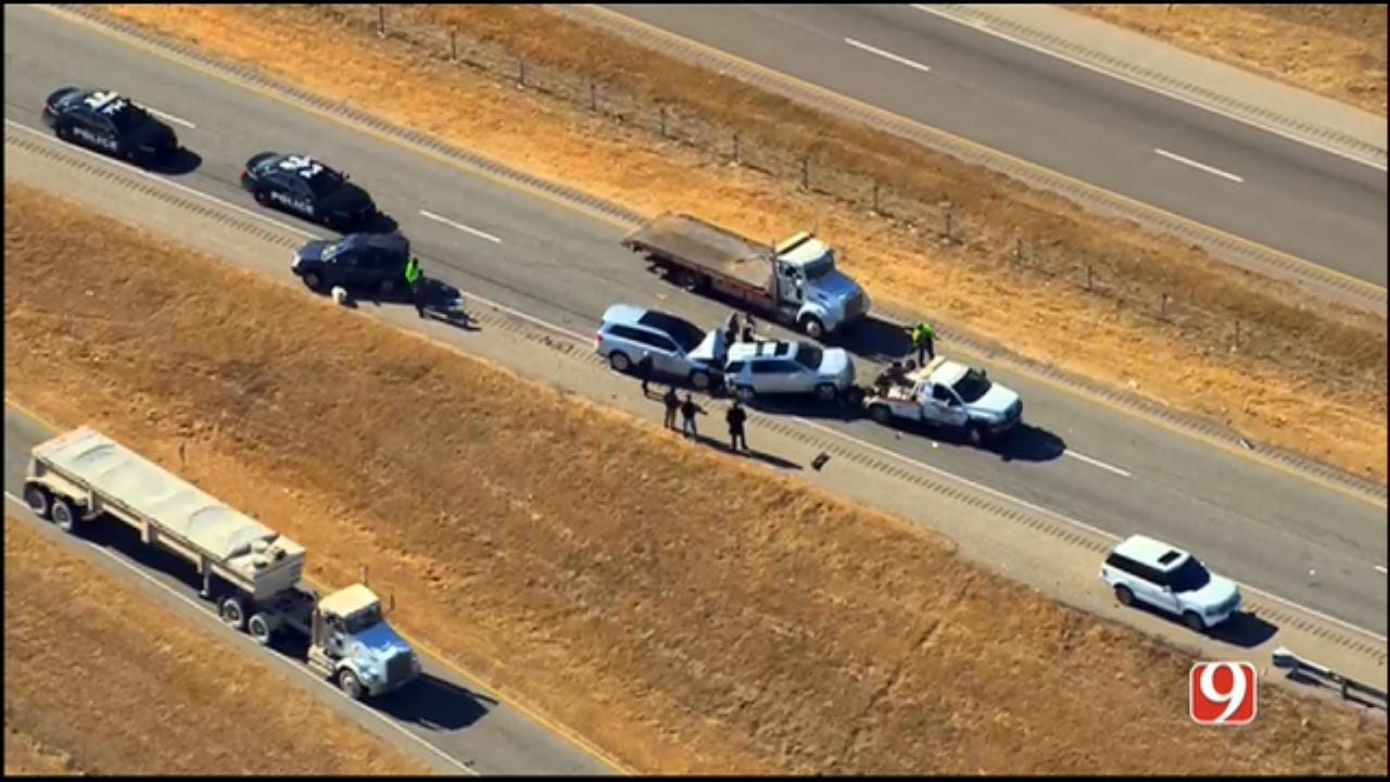 WEB EXTRA: SkyNews 9 Flies Over Multi-Vehicle Crash On EB I-44