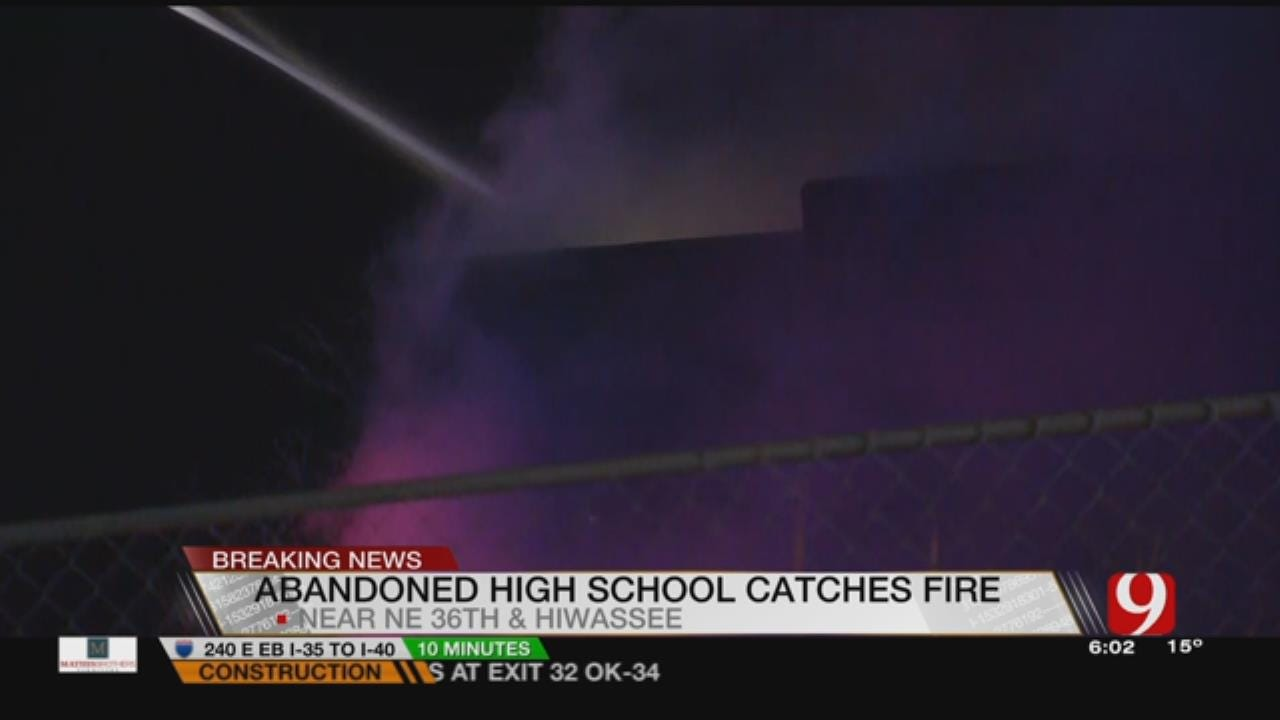 Abandoned School Catches On Fire Near Spencer