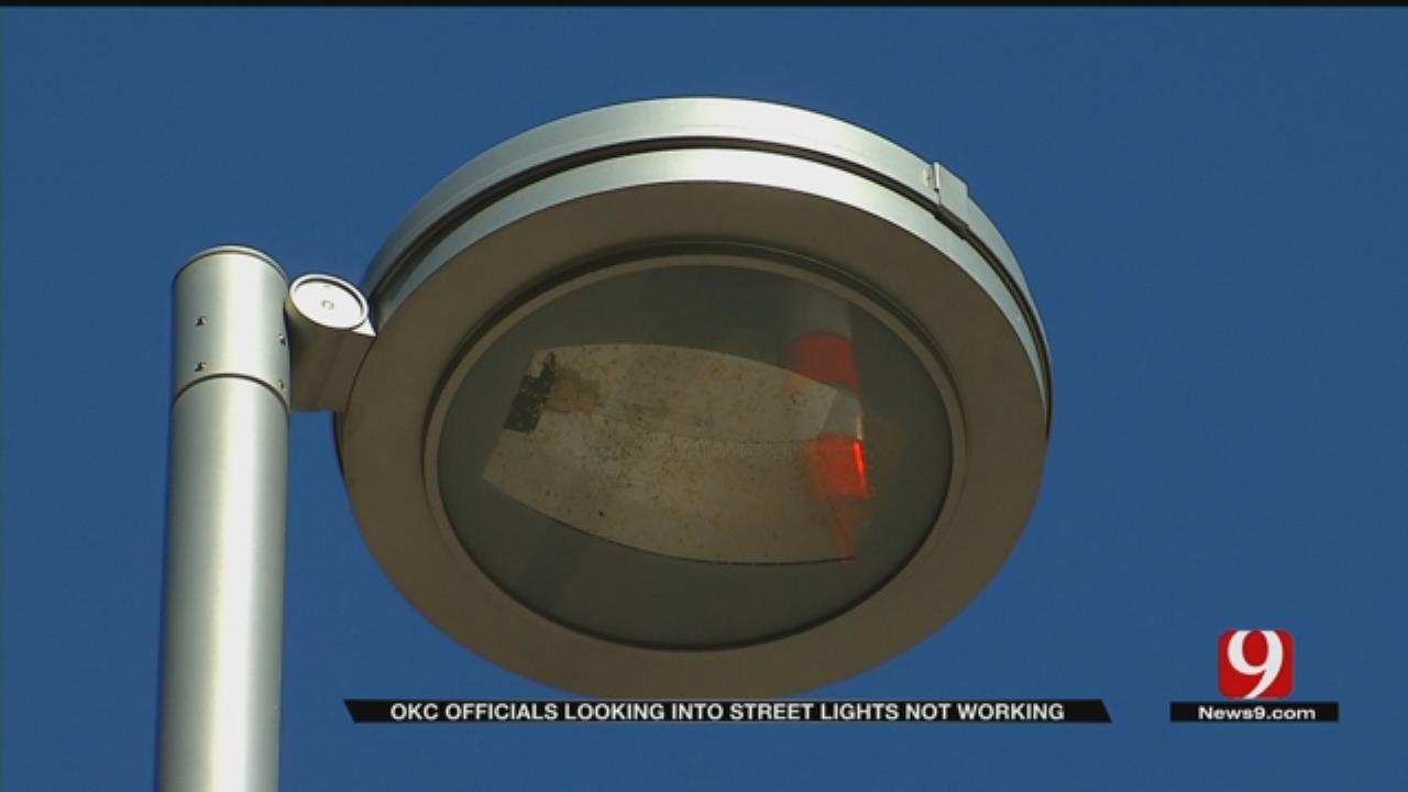 OKC Officials Looking Into Street Lights Not Working