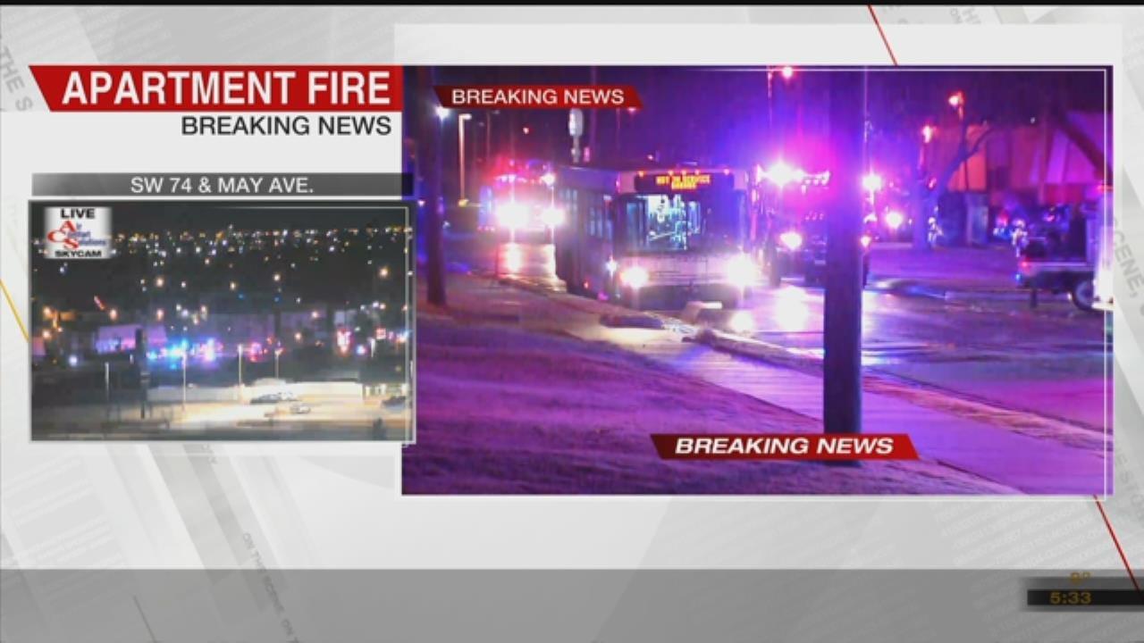 Crews Battle Apartment Fire In SW OKC, Combat Freezing Temps