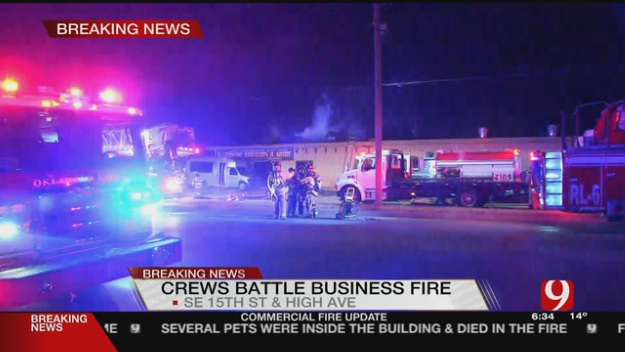 Crews Battle Commercial Fire In SE OKC