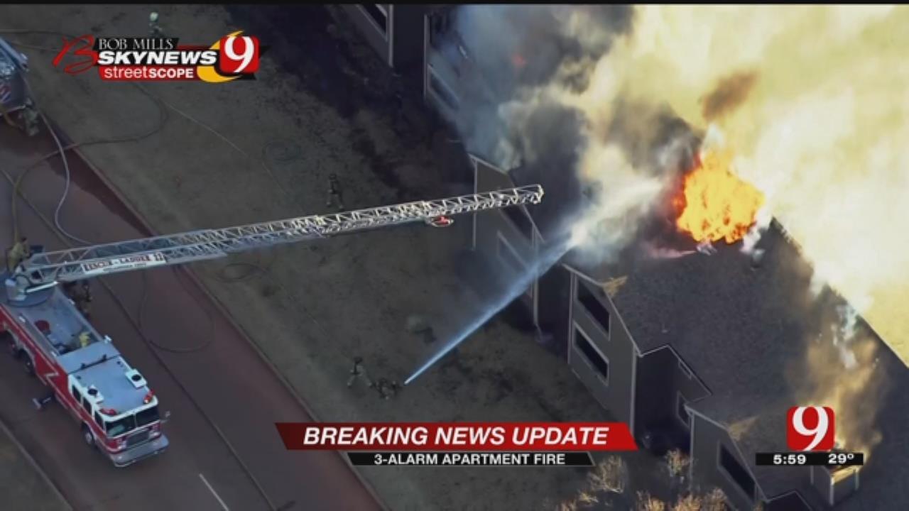 Crews Battle 3-Alarm Blaze At NW OKC Apartment Complex